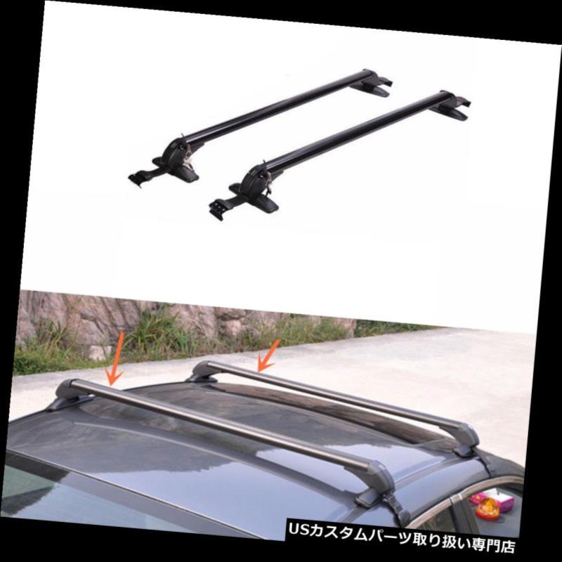 キャリア シボレークルーズ2008-2014年のための2PCS黒いアルミ合金のルーフラッククロスバーセット 2PCS Black Aluminum alloy Roof Rack Cross Bar Set For Chevrolet Cruze 2008-2014