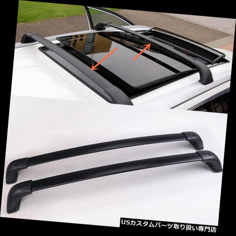 キャリア トヨタハイランダー2014-2016 2本黒クロスバー屋根貨物荷物ラック For Toyota Highlander 2014-2016 2pcs Black Cross Bar Roof Cargo Luggage Rack