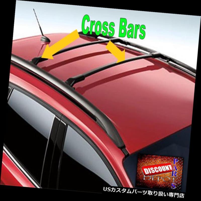キャリア 2015 2016 2017エスケープ純正フォードブラックルーフラッククロスバー2本セット 2015 2016 2017 Escape Genuine Ford Black Roof Rack Cross Bar Set of 2 carrier
