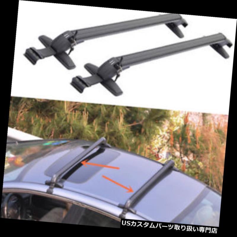 キャリア ホンダアコード2005-2010年のための2PCS黒いアルミニウムクロスバーの屋根の貨物荷物の棚 2PCS Black Aluminum Cross Bar Roof Cargo Luggage Rack For HONDA ACCORD 2005-2010