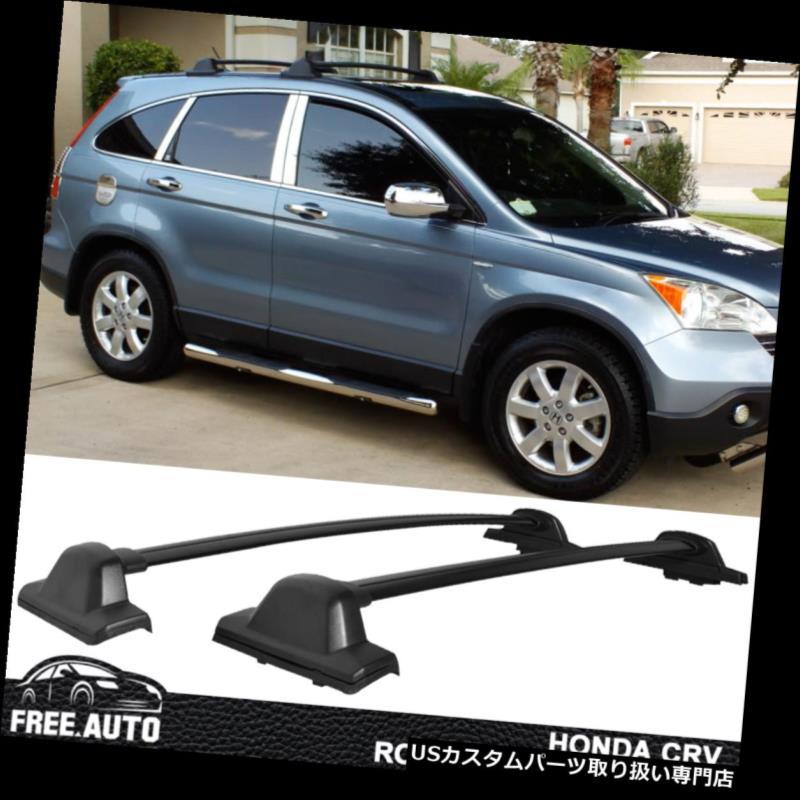 キャリア 2007-2011年ホンダCRVルーフラックOEファクトリースタイルクロスバーブラック2個入り Fits 2007-2011 Honda CRV Roof Rack OE Factory Style Cross Bar Black 2Pc