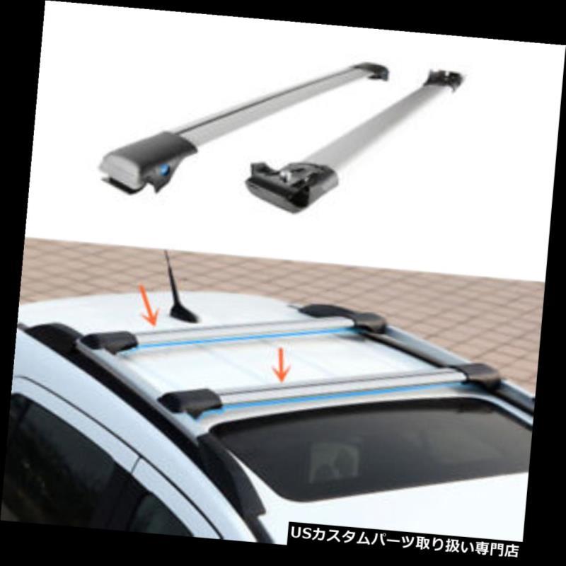 キャリア ホンダ都市2014-2016年のための2PCS銀色のアルミニウムクロスバーの屋根の貨物荷物の棚 2PCS Silvery Aluminum Cross Bar Roof Cargo Luggage Rack For HONDA CITY 2014-2016