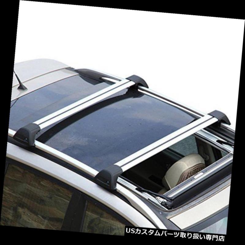 キャリア Tiguan 2011-2016ルーフラックレールクロスバークロスバー用VWフォルクスワーゲン用 Fits for VW Volkswagen for Tiguan 2011-2016 Roof Rack Rail Cross Bar Crossbar