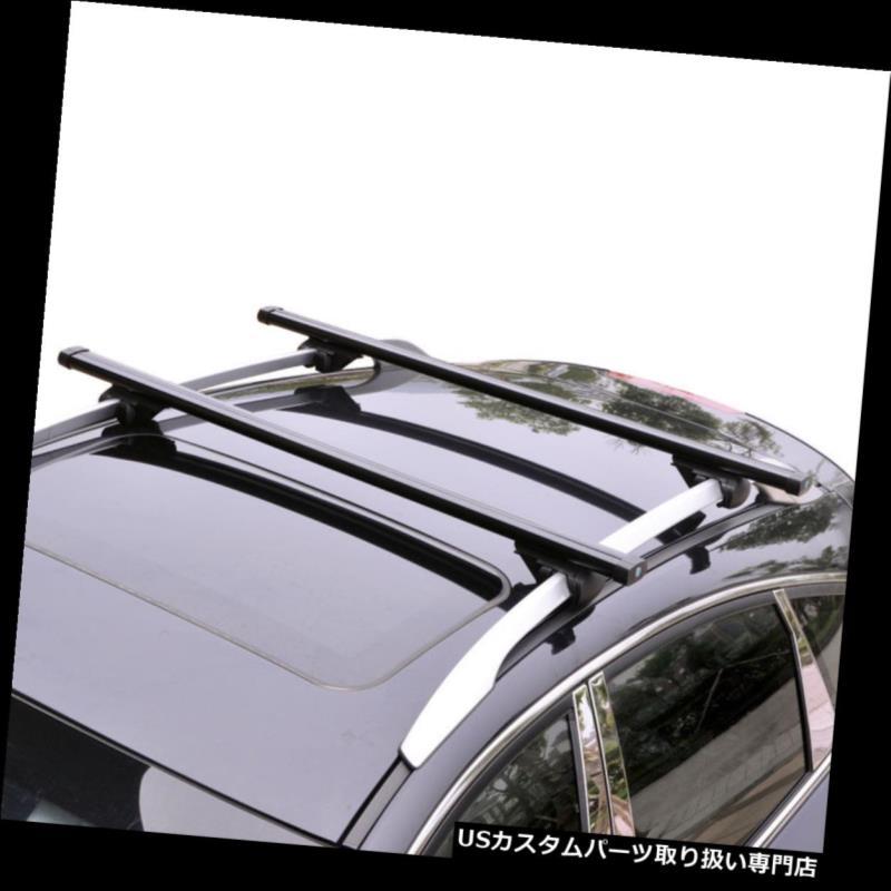 キャリア スバルXV 2012-2016ブラックアルミクロスバールーフカーゴラゲッジラック用 For Subaru XV 2012-2016 Black Aluminum Cross Bar Roof Cargo Luggage Racks