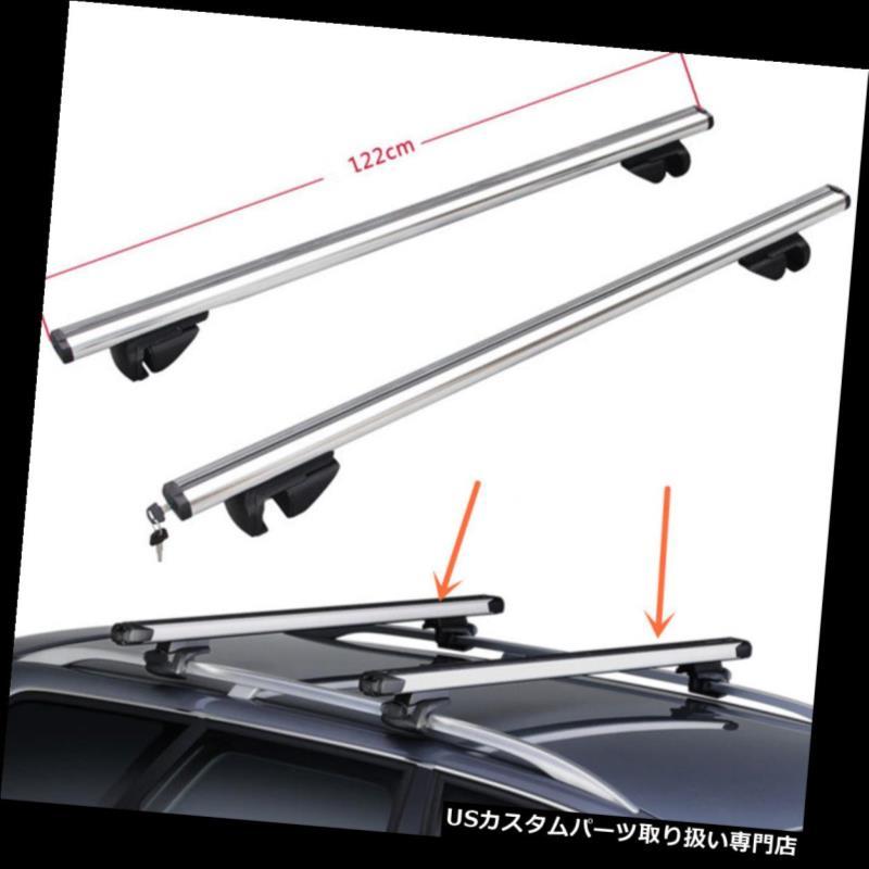 キャリア トヨタセコイア2001-2016 2本銀色のクロスバーの屋根の貨物荷物ラック For Toyota Sequoia 2001-2016 2pcs silvery Cross Bar Roof Cargo Luggage Rack