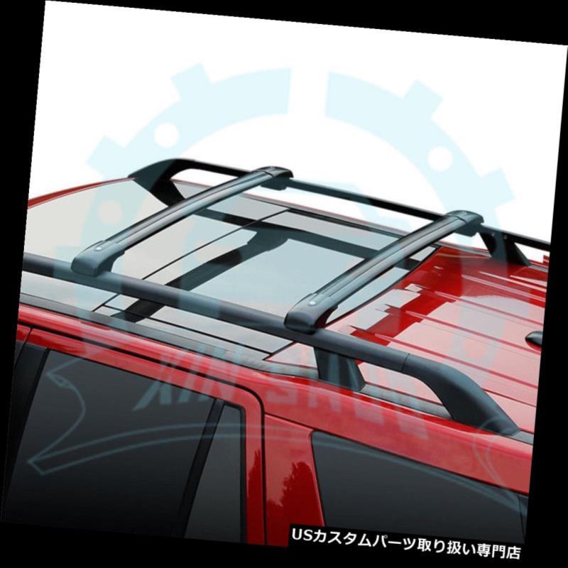 キャリア ヒュンダイツーソン2011-2014ロック可能な荷物ルーフラックレールクロスバーBのための2本 2Pcs for Hyundai Tucson 2011-2014 Lockable Luggage Roof Rack Rail Cross Bar B
