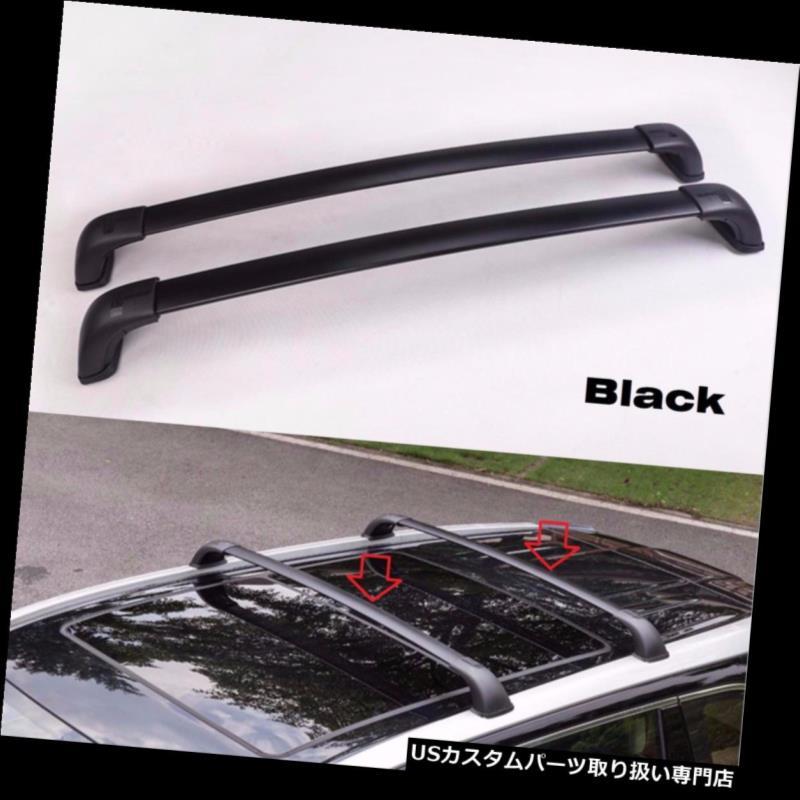 キャリア トヨタハイランダークルーガー2014 2015ブラック手荷物荷物ルーフラッククロスバーに合う Fit Toyota Highlander Kluger 2014 2015 Black Baggage luggage roof rack cross bar