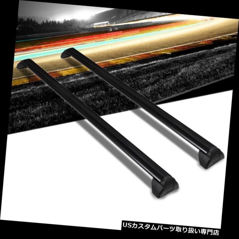 キャリア 02-07サターンヴューのための黒いアルミニウムOEスタイルのボルトオントップルーフラックレールクロスバー Black Aluminum OE Style BoltOn Top Roof Rack Rail Cross Bar For 02-07 Saturn Vue