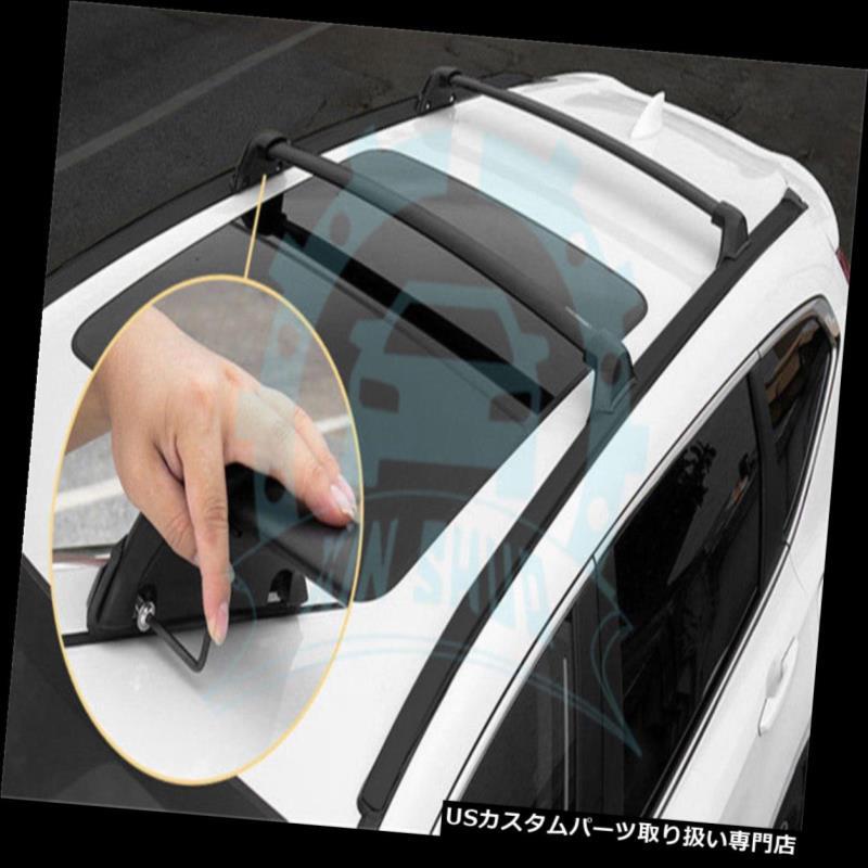 キャリア ホンダCRV CR - V 2017 2018 4本ルーフレールルーフラッククロスバークロスバーB for Honda CRV CR-V 2017 2018 4Pcs Roof Rail Roof Rack Cross Bars Crossbars B