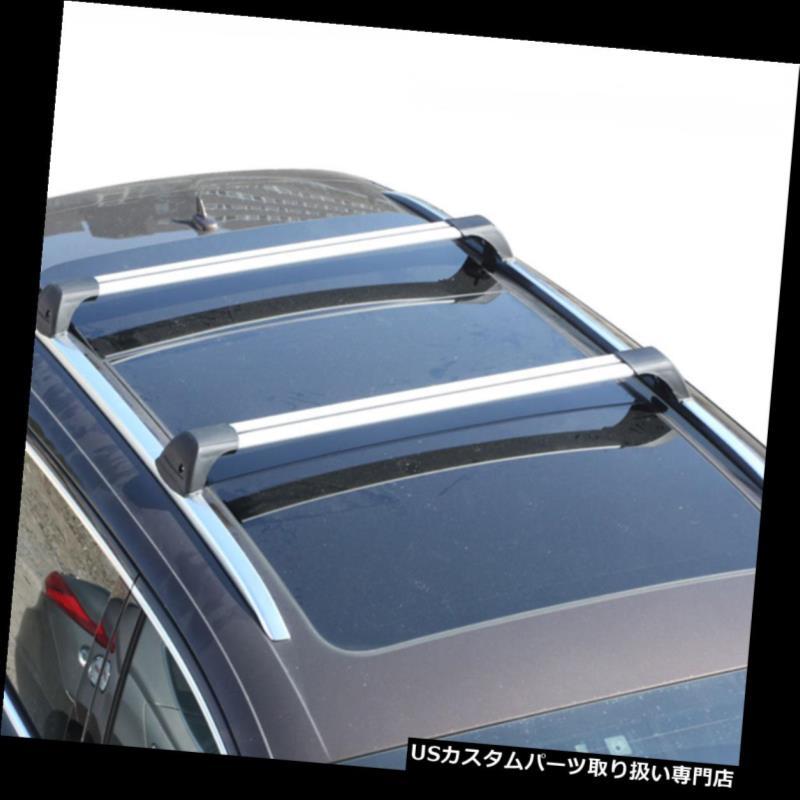Aluminium Roof Rack Cross Bar Set for Audi A4 B8 Allroad Quattro 2009-2015 Black