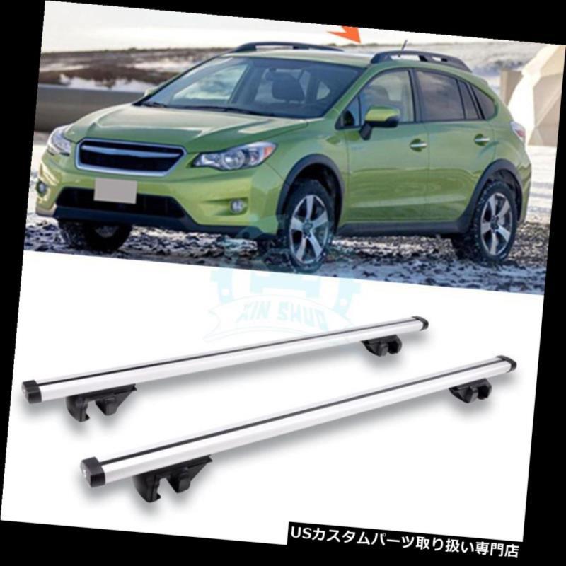 キャリア 1ペアアルミ合金クロスバーラックルーフラックラックスバルXV 2012-2016用 1pair Aluminum alloy Crossbar Rack Roofs Rack Fit For Subaru XV 2012-2016