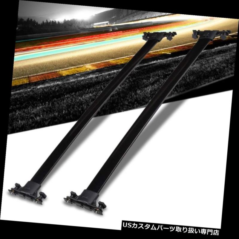 キャリア 01-07ハイランダーのための黒いアルミニウムOE様式のボルトオントップルーフラックレールクロスバー Black Aluminum OE Style BoltOn Top Roof Rack Rail Cross Bar For 01-07 Highlander
