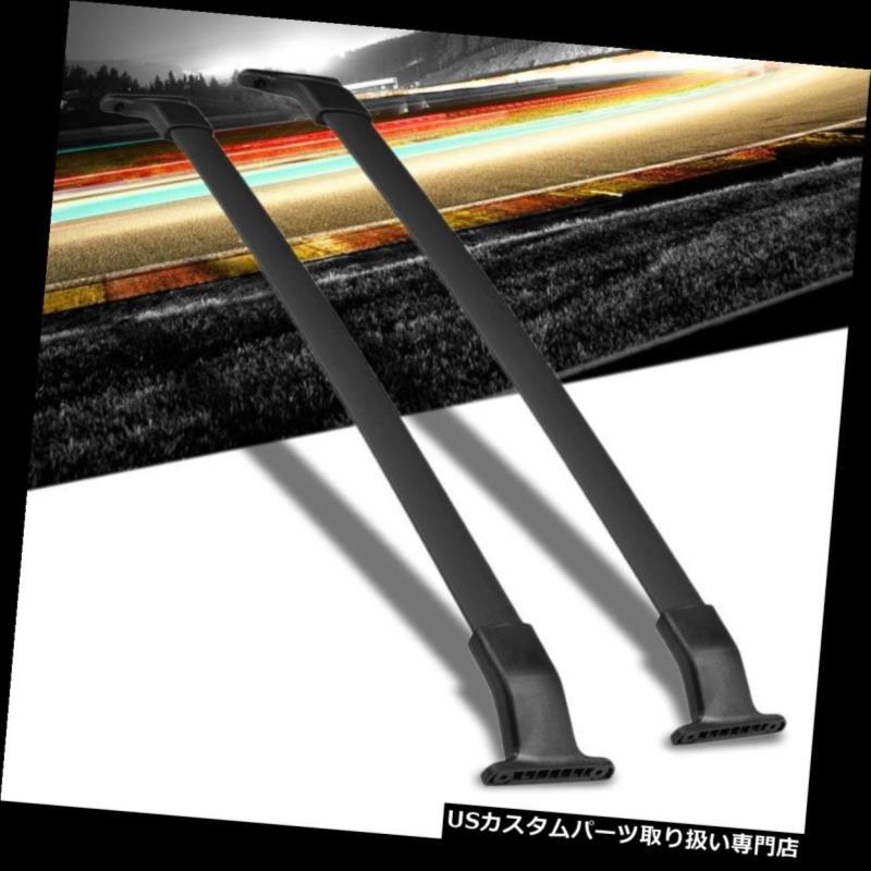 キャリア 11-17オデッセイのための黒いアルミニウムOE様式のボルトで固定された上のルーフラックの柵の十字棒 Black Aluminum OE Style Bolt-On Top Roof Rack Rail Cross Bar For 11-17 Odyssey