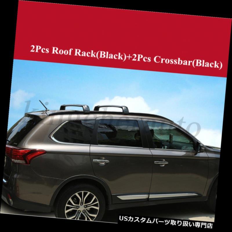 キャリア 三菱アウトランダー2013-2017ルーフラックレールクロスバークロスバーのための4PCSフィット 4Pcs fit for Mitsubishi Outlander 2013-2017 roof rack rail cross bar crossbar