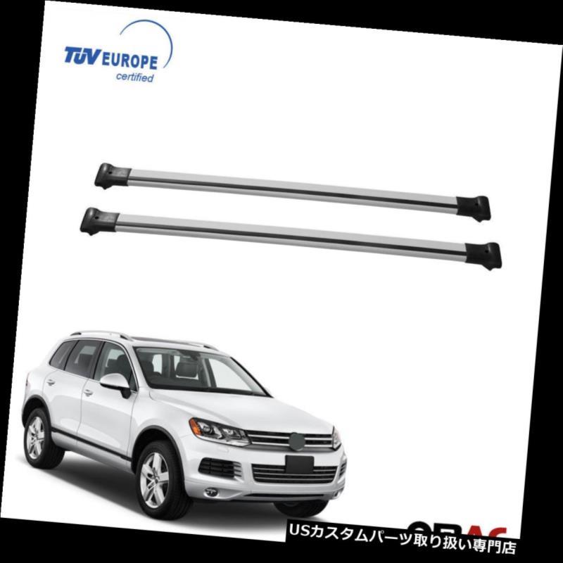 キャリア VW TOUAREG II 2010-2017ルーフラッククロスバーキャリアレールAU 2個入りTUV VW TOUAREG II 2010-2017 Roof Racks Cross Bars Carrier Rails Alu 2 Pcs with TUV