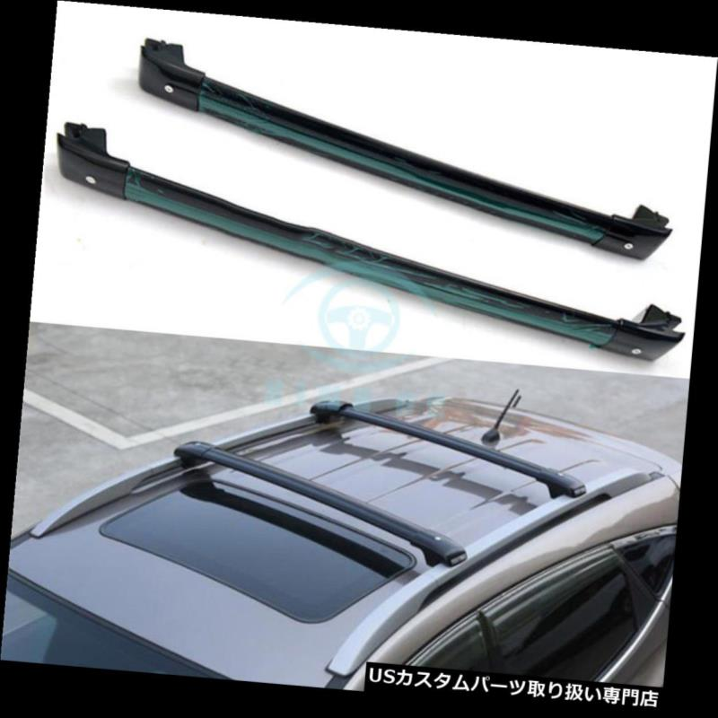 キャリア トヨタランドクルーザーLC200 FJ200 08-17のための黒い車のトップクロスバールーフラックレール Black Car Top Cross Bar Roof Rack Rail For Toyota Land Cruiser LC200 FJ200 08-17