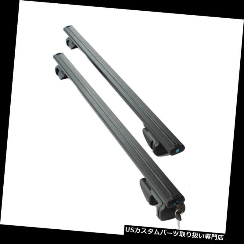 キャリア スバルフォレスター2008-2016ブラックアルミクロスバールーフラゲッジラック1セット用 For Subaru Forester 2008-2016 Black Aluminum Cross Bar Roof Luggage Rack 1set