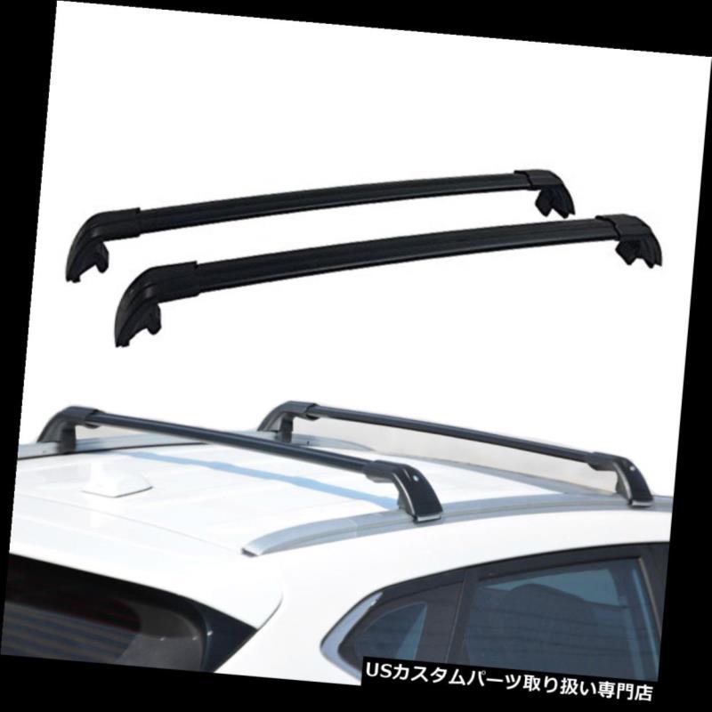 キャリア BMW X3 F25 2011-2017ロック可能ルーフラックレールクロスバークロスバー用2個入り 2Pcs Fits for BMW X3 F25 2011-2017 Lockable Roof Racks Rail Cross Bar Crossbars