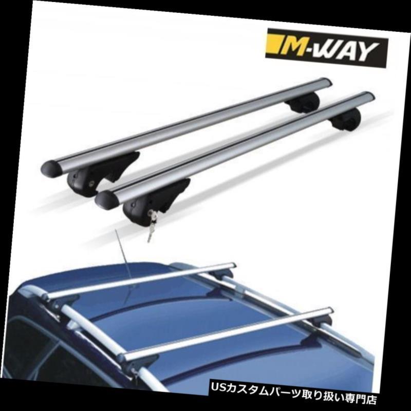 キャリア 日産Qashqai Qashqai + 2 08-17用Mウェイルーフクロスバーロックラックアルミ M-Way Roof Cross Bars Locking Rack Aluminium for Nissan Qashqai Qashqai+2 08-17