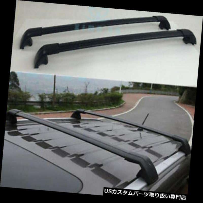 キャリア アウディQ7 2006-2015リフィット手荷物荷物トップルーフラックレールクロスバーブラック For Audi Q7 2006-2015 Refit Baggage Luggage Top Roof Rack Rails Cross Bars Black