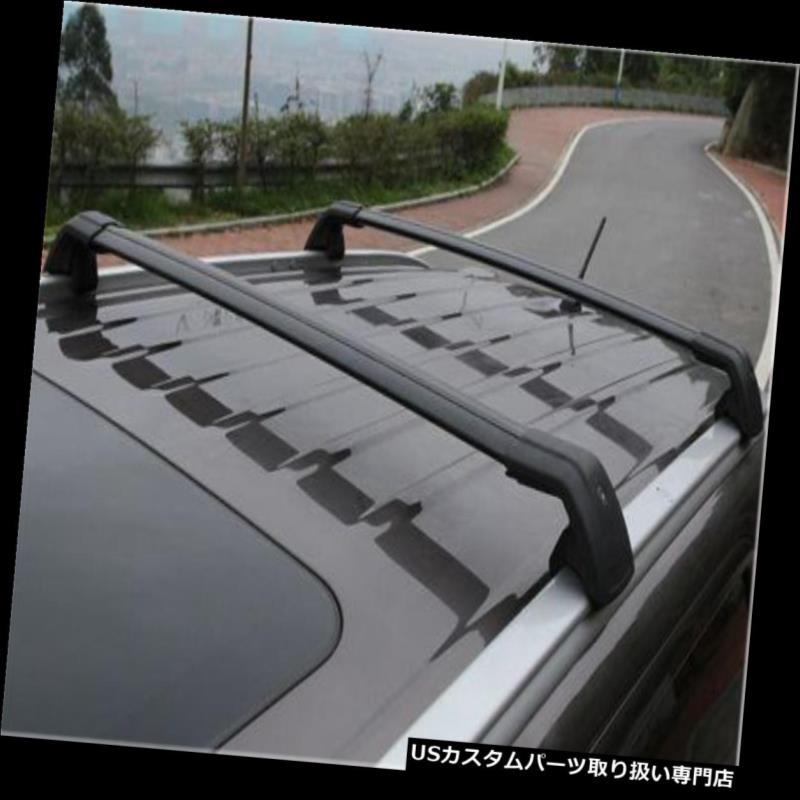 キャリア アウディQ7 2006-15ブラックラゲッジ荷物ルーフラックレールクロスバークロスバー For Audi Q7 2006-15 black baggage luggage roof rack rail cross bar crossbar