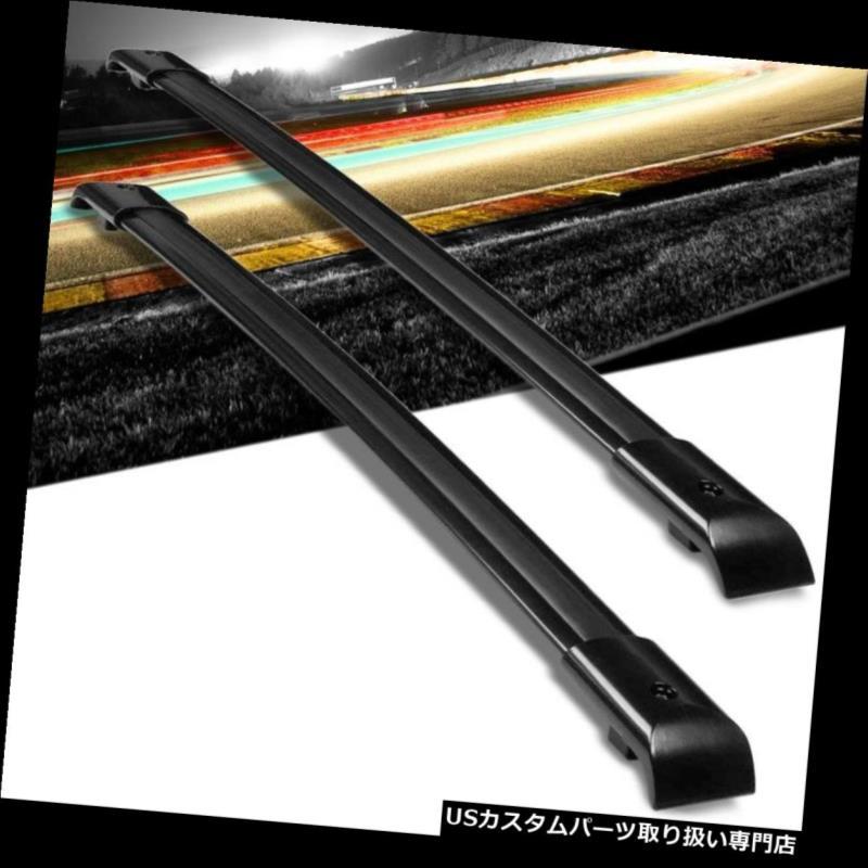 キャリア 05-10オデッセイ用ブラックアルミOEスタイルボルトオントップルーフラックレールクロスバー Black Aluminum OE Style Bolt-On Top Roof Rack Rail Cross Bar For 05-10 Odyssey