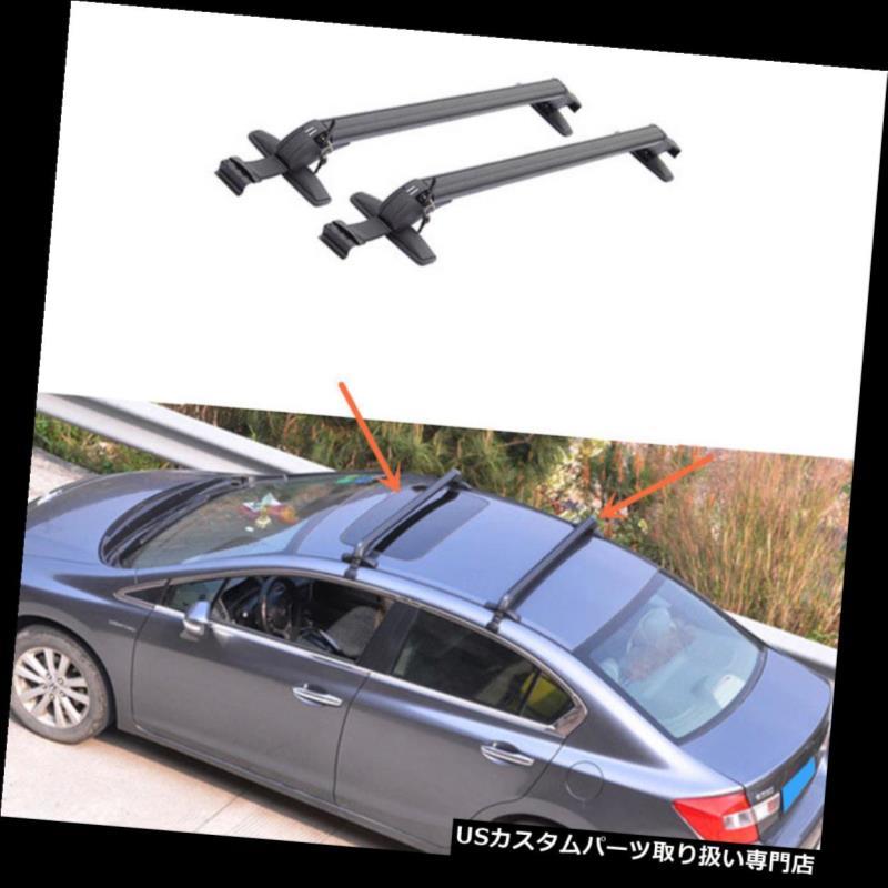 キャリア シボレーマリブ用2PCSブラックアルミ合金ルーフラッククロスバーセット 2PCS Black Aluminum alloy Roof Rack Cross Bar Set For Chevrolet Malibu