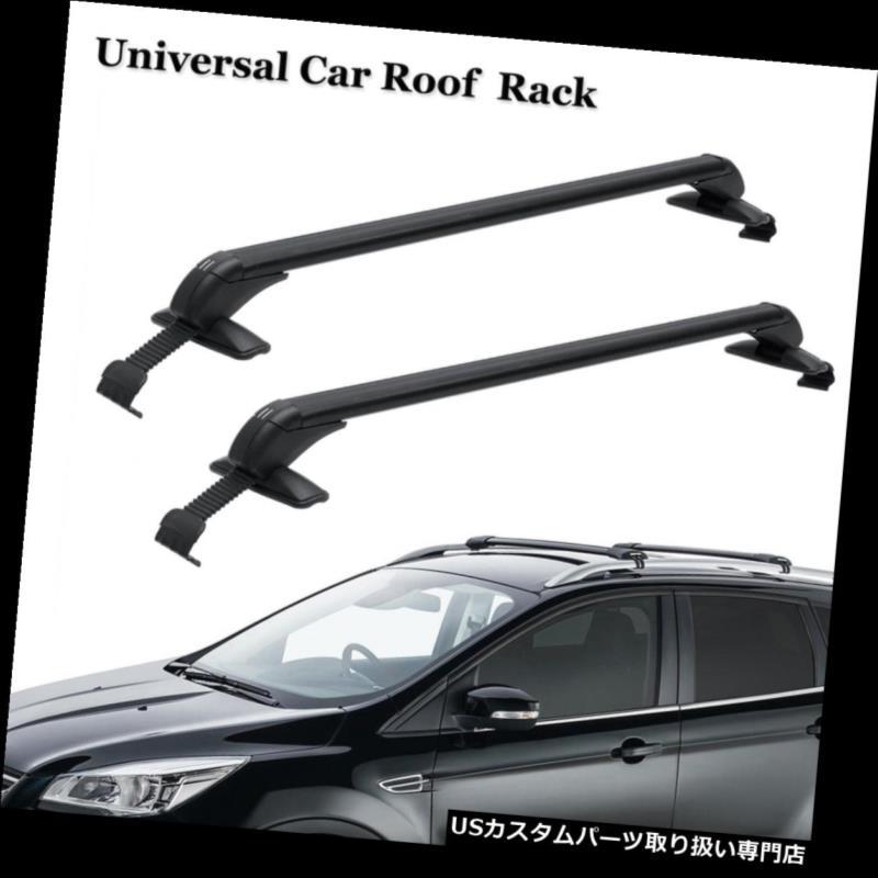 キャリア 車SUVのために盗難防止2Xの上の屋根の貨物棚の十字バーの荷物のキャリアのガスケット 2X Top Roof Cargo Rack Cross Bars Luggage Carrier Gasket Anti-theft For Car SUV