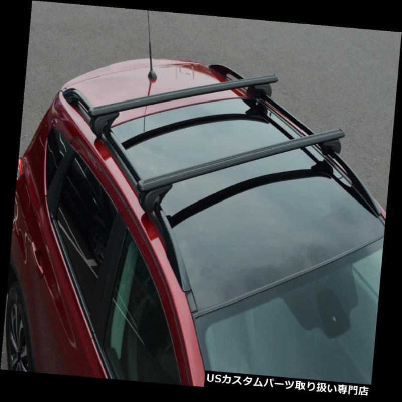 キャリア ロックできるランドローバーのフリーランダー2 100KGに合うように屋根柵のための黒い十字バー Black Cross Bars For Roof Rails To Fit Land Rover Freelander 2 100KG Lockable