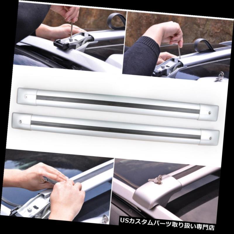 キャリア トヨタランドクルーザー2008-16 2本入りアルミクロスバールーフカーゴ荷物ラック For Toyota Land cruiser 2008-16 2pcs Aluminum Cross Bar Roof Cargo Luggage Rack