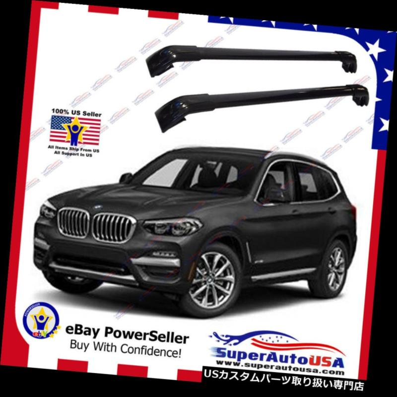 キャリア ブラックトップルーフラックフィットBMW X 4 F 26 14-17手荷物荷物クロスバークロスバー Black Top Roof Rack Fit for BMW X4 F26 14-17 Baggage Luggage Cross Bar Crossbar