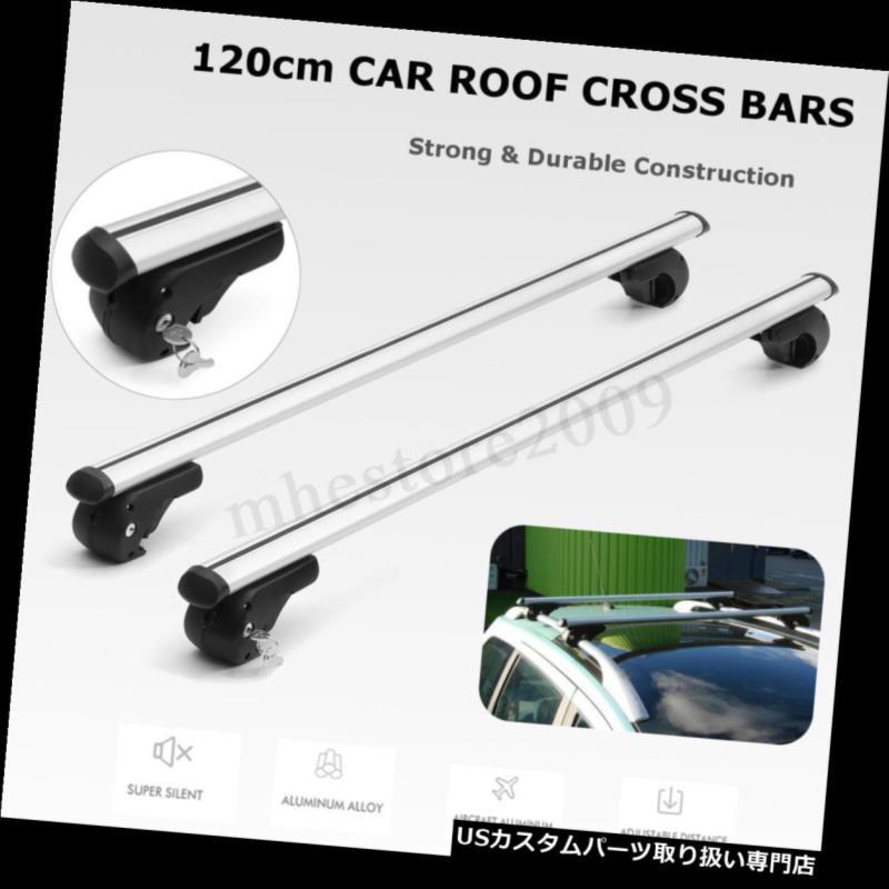 キャリア 48 '120 cmロッキングカーSUVトップクロスバールーフラックカーゴ荷物キャリアレール 48'' 120cm Locking Car SUV Top Cross Bar Roof Rack Cargo Luggage Carrier Rail