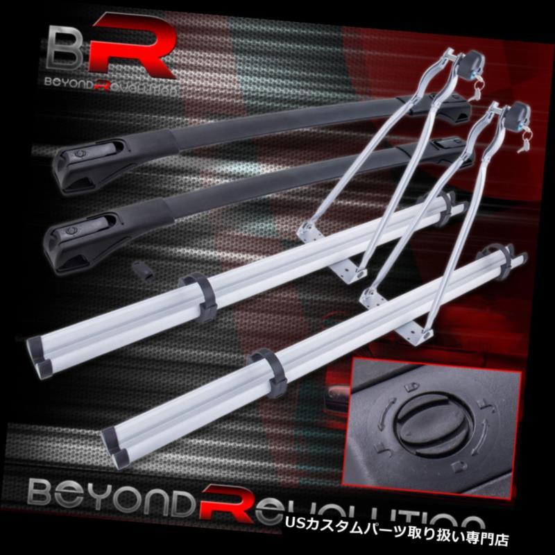 キャリア 2013-2018トヨタRAV4 +アルミ自転車自転車キャリアマウント用ルーフクロスバー Roof Cross Bar For 2013-2018 Toyota RAV4 + Aluminum Bike Bicycle Carrier Mount