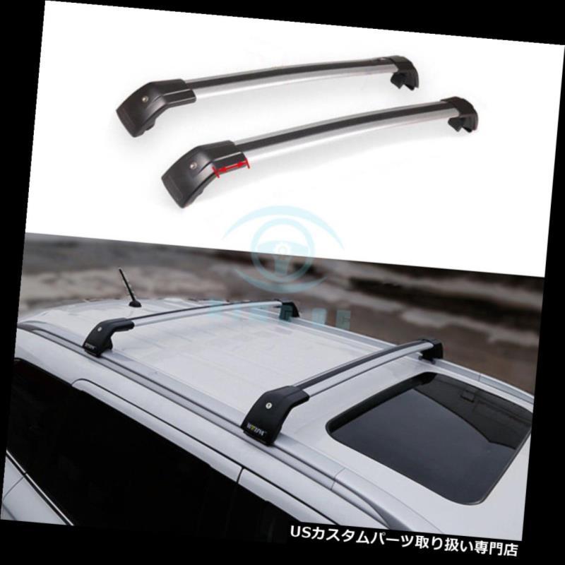 キャリア 三菱Outlander 2013-17のための自動銀製の上部の十字バーのルーフラックの柵の適合 Auto Silver Upper Cross Bar Roof Rack Rail Fit For Mitsubishi Outlander 2013-17