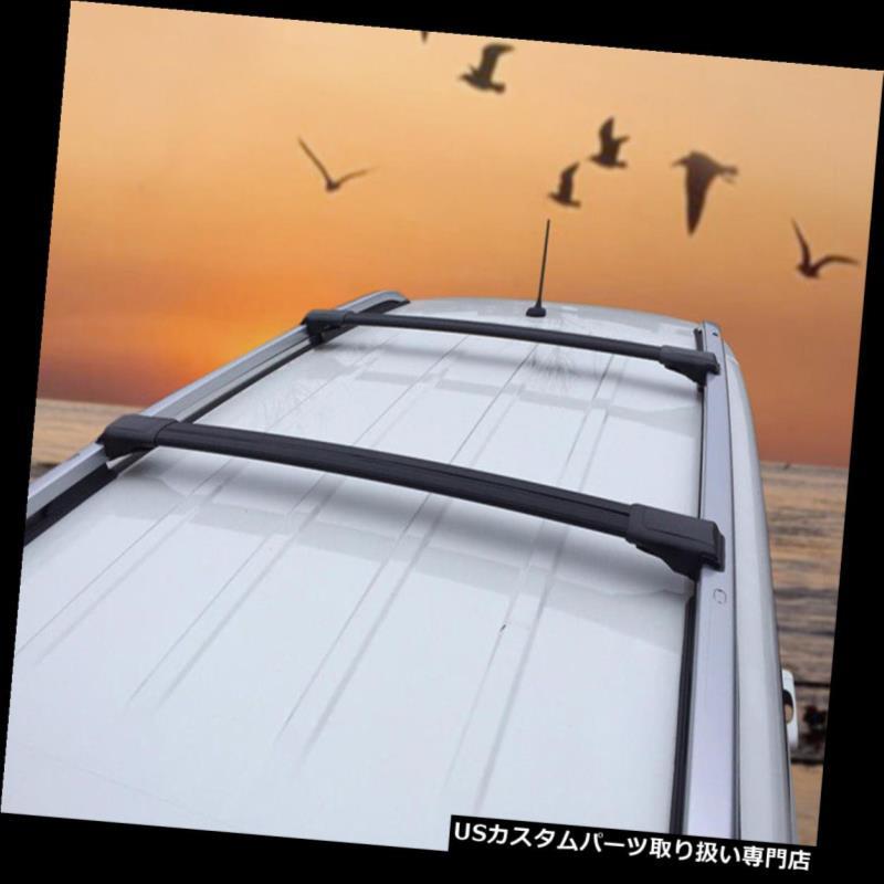 キャリア アルミ製ルーフラッククロスバーシボレーレゾ2000-2008ブラックアルマイト Aluminium Roof Rack Cross Bar Set for Chevrolet Rezzo 2000-2008 Black Anodised
