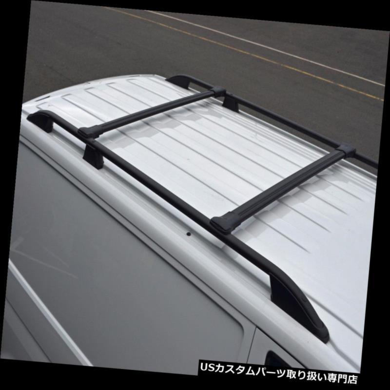 キャリア メルセデス・ベンツシタン(12+)に合うように屋根のサイドバーに合うように設定された黒い十字バーレール Black Cross Bar Rail Set To Fit Roof Side Bars To Fit Mercedes-Benz Citan (12+)