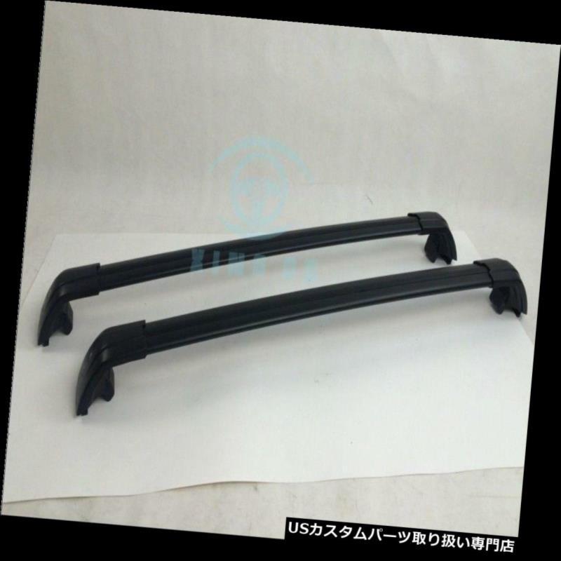 キャリア LEXUS NX 200 2015 2016ブラック手荷物ルーフラックレールクロスバークロスバー For LEXUS NX 200 2015 2016 black baggage roof rack rail cross bar crossbar