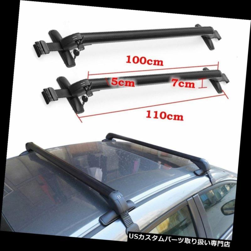 キャリア アルミニウム車の上の荷物のキャリアのルーフラック調節可能な窓枠のクロスバーMT Aluminum Car Top Luggage Carrier Roof Rack Adjustable Window Frame Cross Bar MT