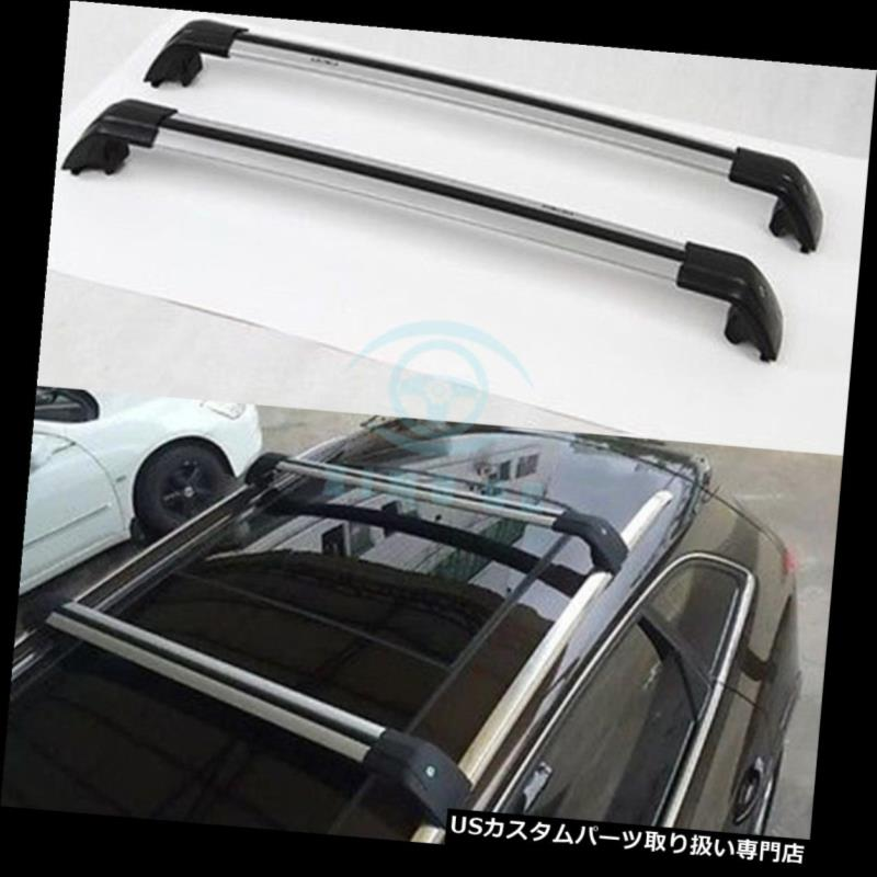 """Universal Silver 49/"""" Square Roof Rack Cross Bars w//Lock Car Wagon SUV Carrier S2"""