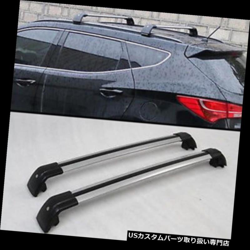 キャリア ヒュンダイサンタフェスポーツ2013-17用荷物トップルーフラックレールクロスバー修正用 For Hyundai Santa Fe Sport 2013-17 Luggage Top Roof Rack Rail Cross Bar Modified