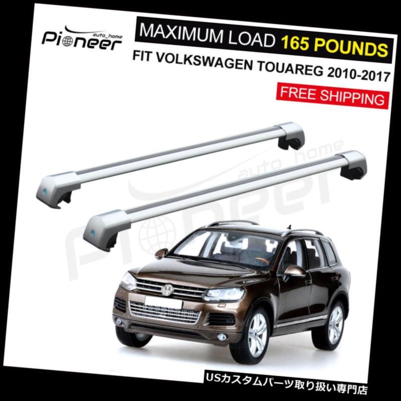 キャリア フィットVWフォルクスワーゲントゥアレグ2010-2017アルミルーフラックレールクロスバークロスバー Fit VW Volkswagen Touarge 2010-2017 Aluminium Roof Rack Rail Cross Bar Crossbar