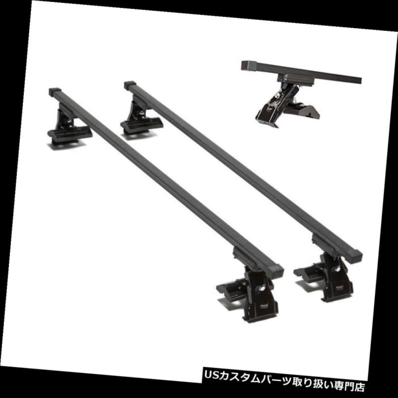キャリア ルーフラッククロスバーはSEAT ALTEA 2004-2013 5 Guttlessルーフ付きドアにフィット Roof Rack Cross Bars fits SEAT ALTEA 2004-2013 5 Door with Guttless Roof