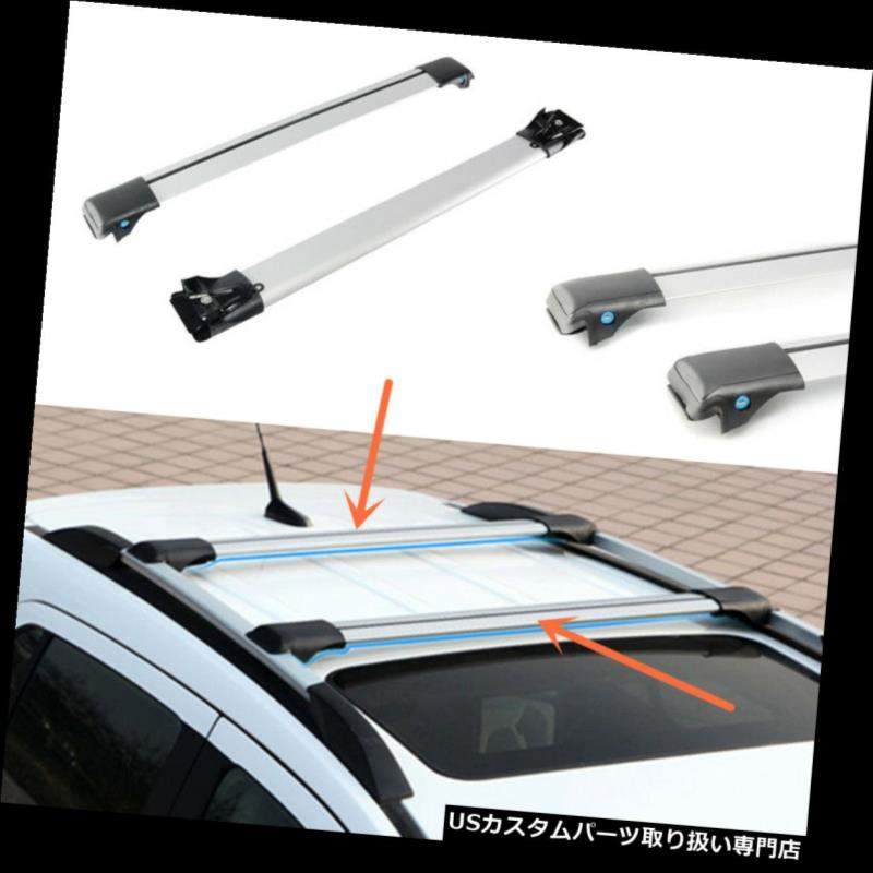キャリア ホンダ都市2014-2016年のための1組のアルミ合金の屋根の荷物の棚のクロスバーの棚 1 Pair Aluminum Alloy Roof Luggage Rack Crossbar Racks for Honda City 2014-2016
