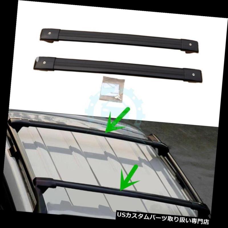 キャリア トヨタランドクルーザー2008-2016年用交換用ルーフ荷物ラックトリムバー Replacement Roof Luggage Rack Trim Bars For Toyota Land Cruiser 2008-2016