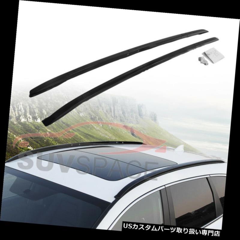 キャリア ホンダCRV CR-V 2017アルミクロスバールーフレールラック用2本ブラッククロスバー 2 Pcs Black Cross Bar for HONDA CRV CR-V 2017 Aluminum Crossbar Roof Rail Rack