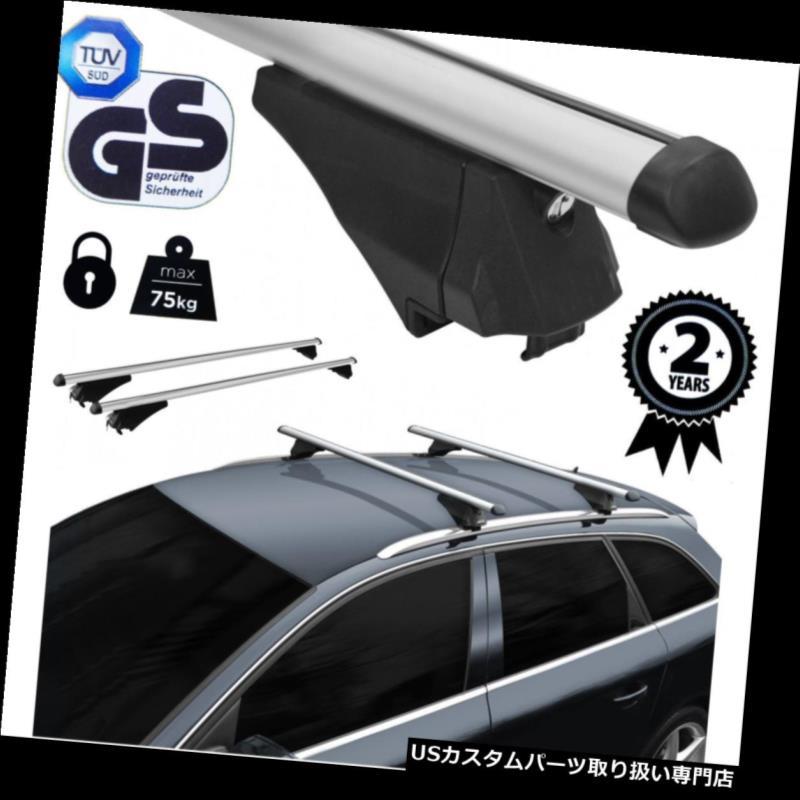キャリア ルーフラッククロスバーアルミ空力ロックはシートレオンIII ST 2012にフィット Roof Rack Cross Bars Aluminum Aerodynamic Locking fits Seat Leon III ST 2012 on