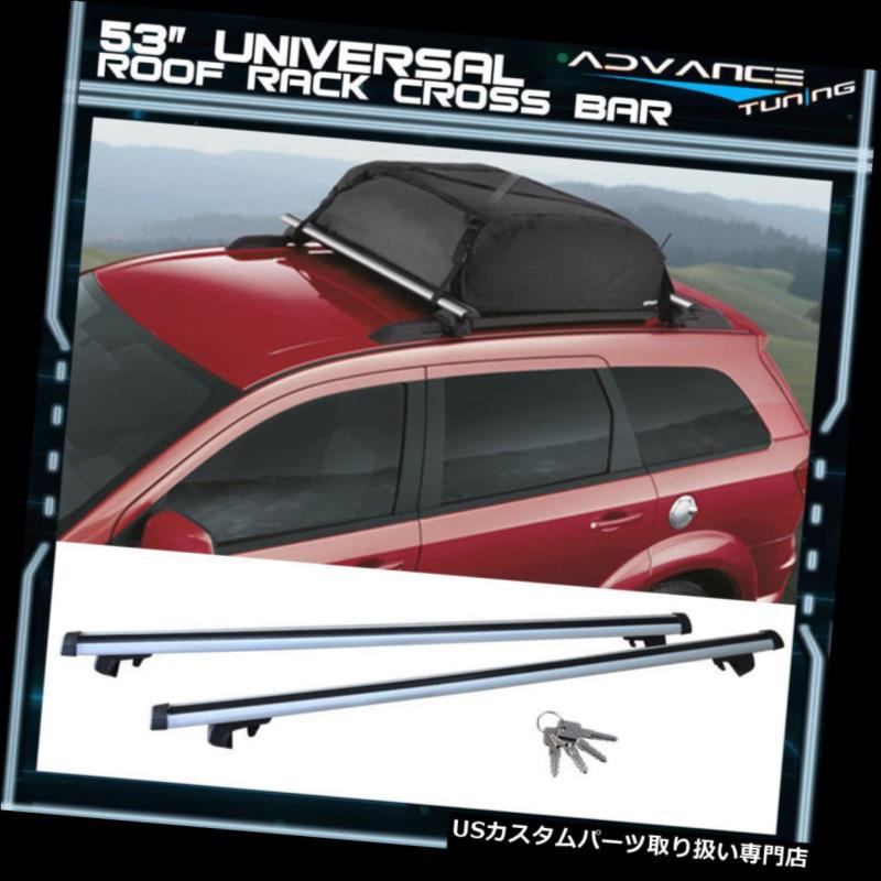 キャリア 53 135CMスバル用アルミトップルーフラッククロスバーアジャスタブルクランプ 53 135CM Aluminum Top Roof Rack Cross Bar Adjustable Clamps For Subaru