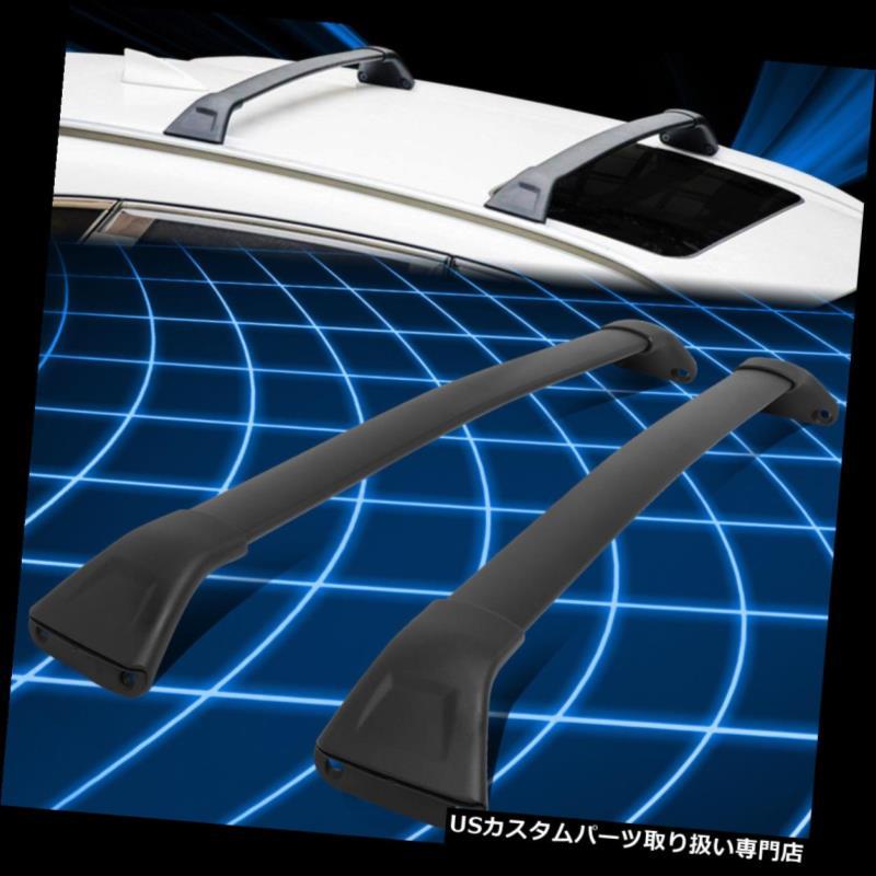 キャリア 17-18マツダCX5ペアアルミトップルーフラックレールクロスバー荷物キャリア For 17-18 Mazda CX5 Pair Aluminum Top Roof Rack Rail Cross Bars Luggage Carrier