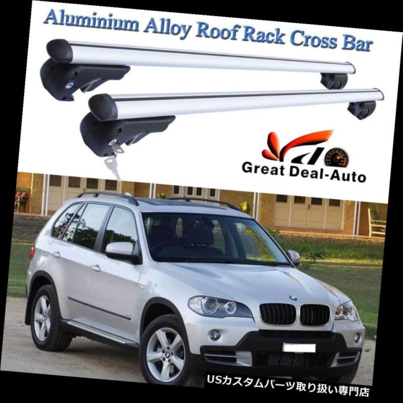 キャリア ロックできるキーが付いているBMW X5 11 / 2000-2018アルミ合金のためのルーフラッククロスバー Roof Rack Cross Bar For BMW X5 11/2000-2018 Aluminium Alloy With Lockable Key