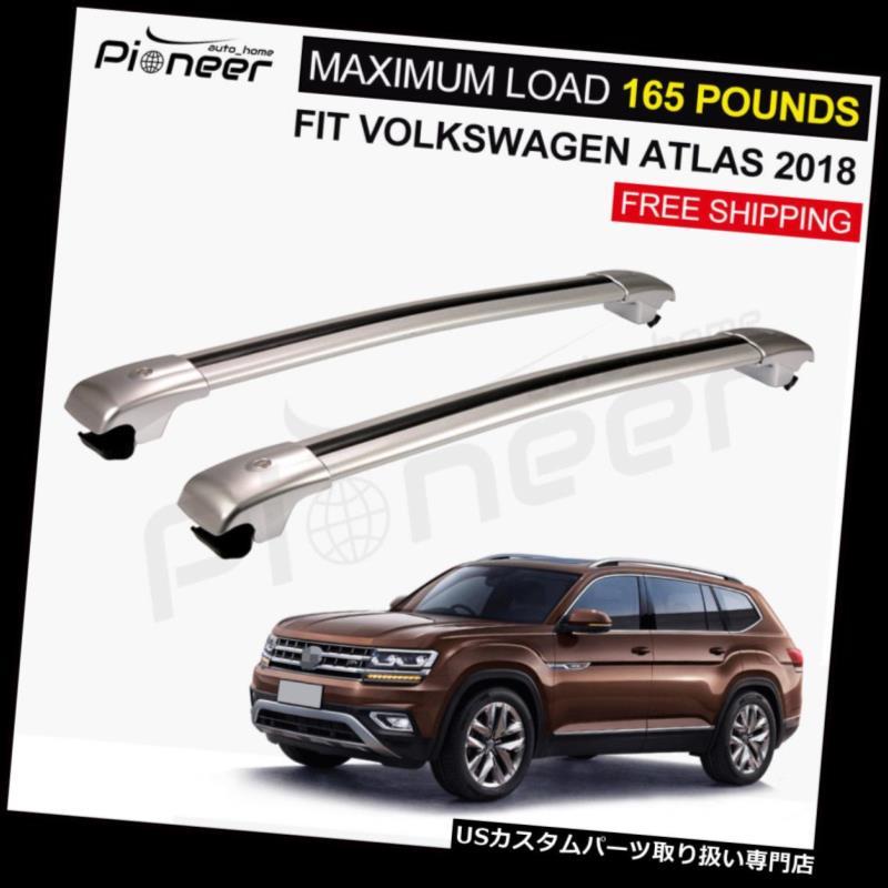 キャリア アルミニウムルーフラックレールクロスバークロスバーフィットすべての新しいVWアトラス2018 2019 Aluminium Roof Racks Rail Cross Bar Crossbar Fit for All New VW Atlas 2018 2019